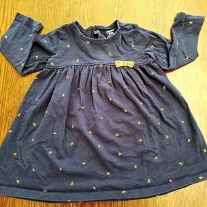 Navy blue bow dress